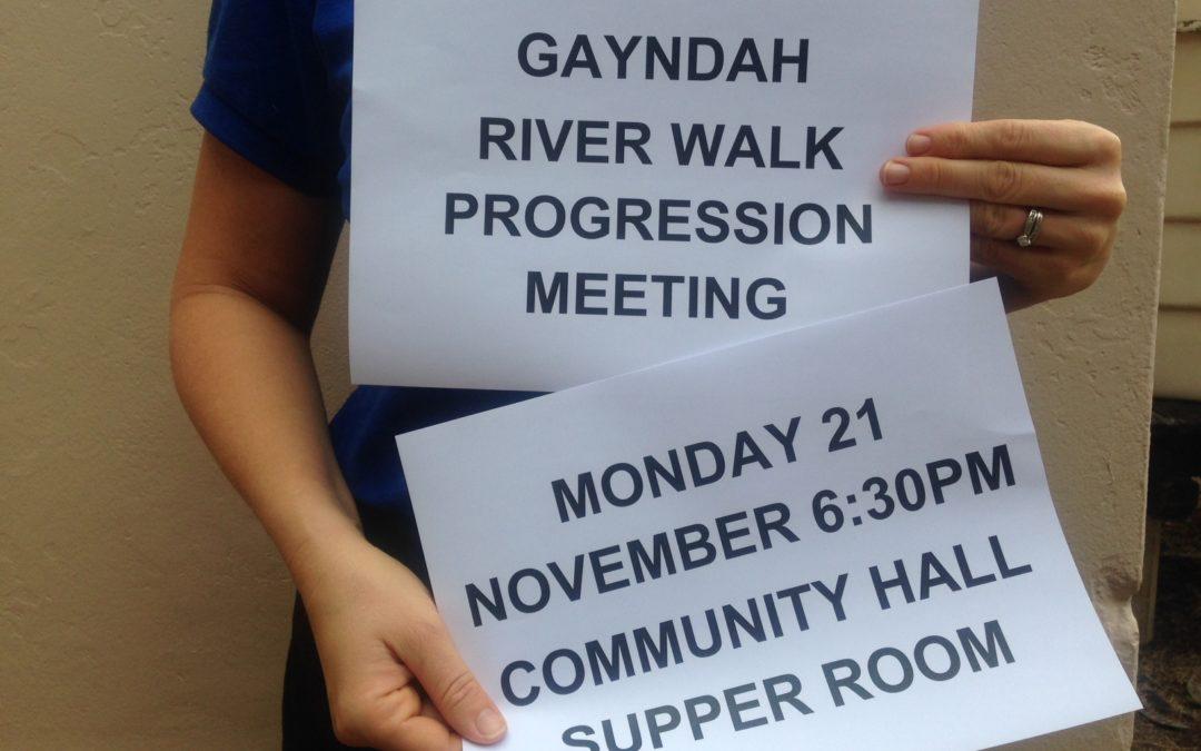 Gayndah River Walk Progression Meeting