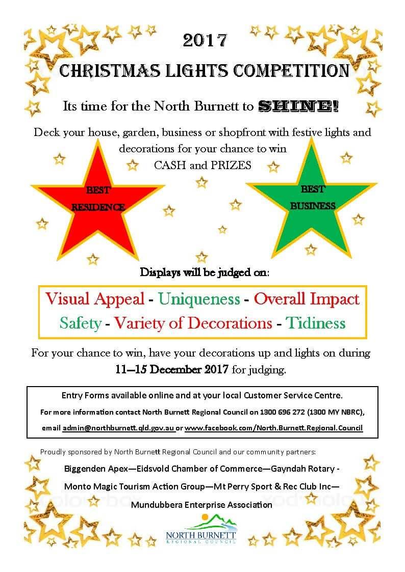 2017 Christmas Light Competition Now Open | North Burnett Regional ...