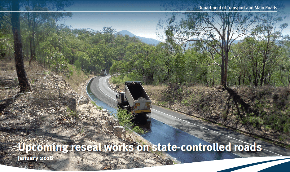 Upcoming reseal works on state-controlled roads