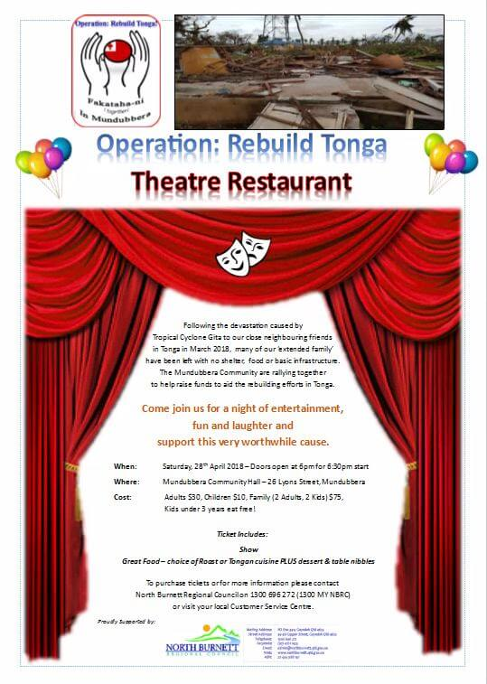 Operation Rebuild Tonga Theatre Restaurant – Mundubbera 28