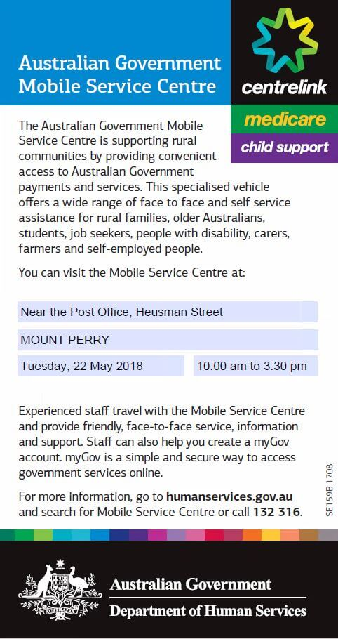 Australian Government Mobile Service Centre – Mt Perry