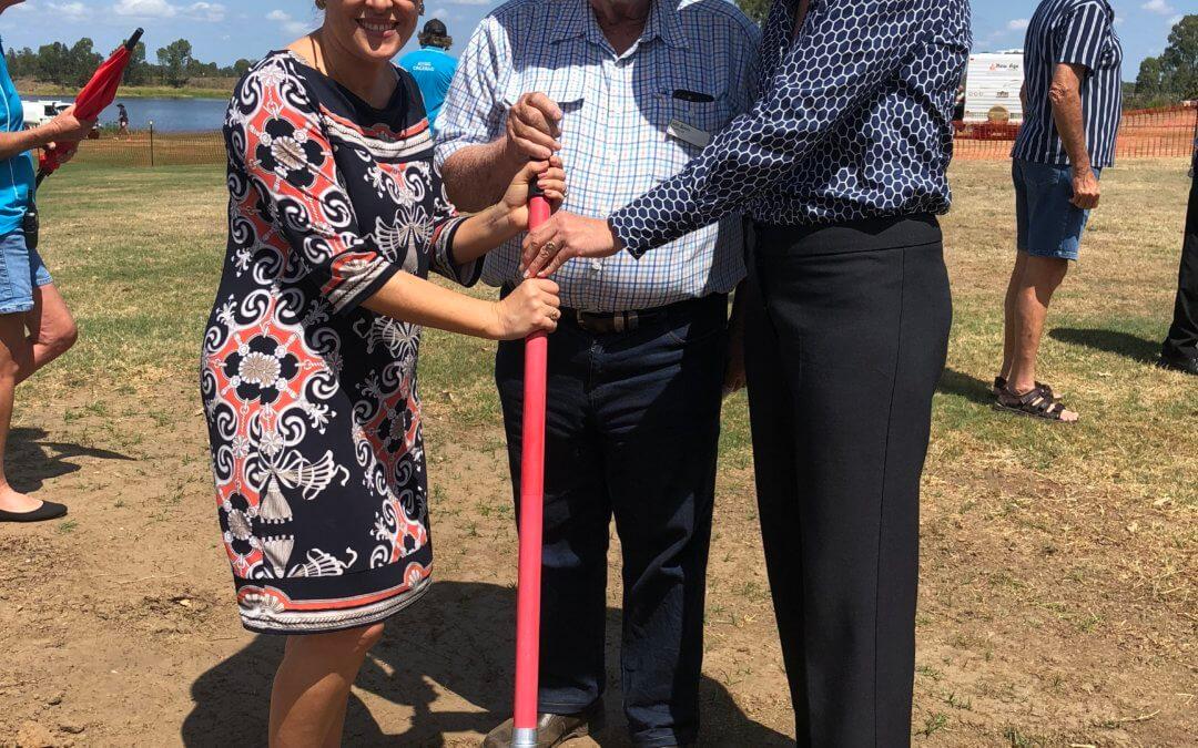 Sod turning marks commencement of  Mingo Crossing Caravan Park Upgrade