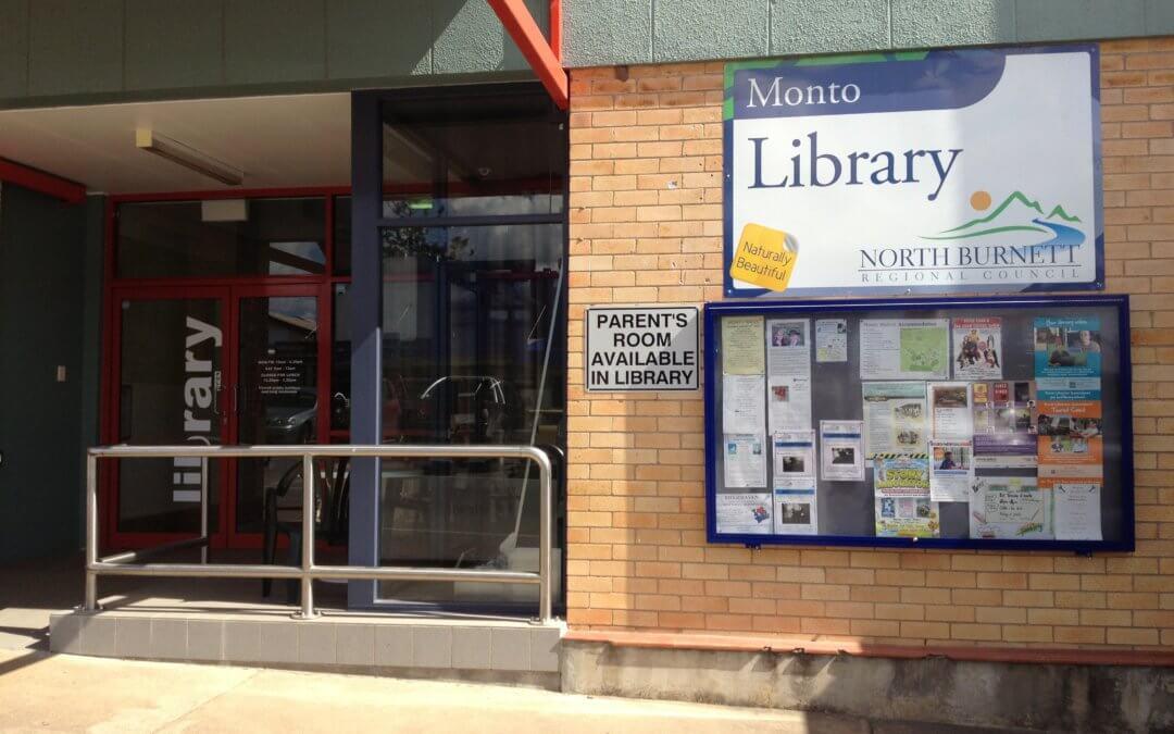 Access Upgrade to Monto Library – Temporary Closure Saturday, 13 October 2018
