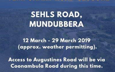 Temporary Road Closure – Sehls Rd, Mundubbera