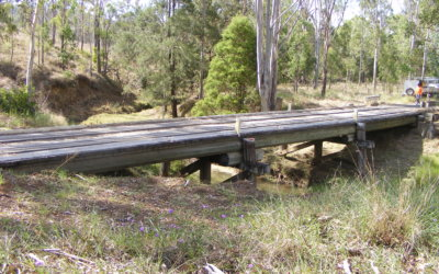 Works commence on Scrubby Creek 1 Bridge  Branch Creek Road, Gayndah