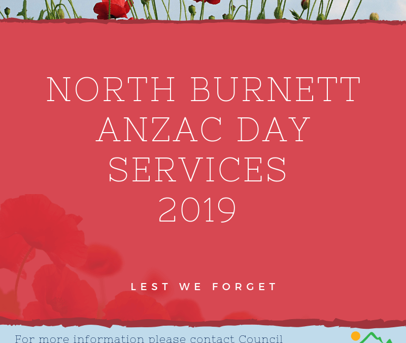 2019 Regional Anzac Day Services