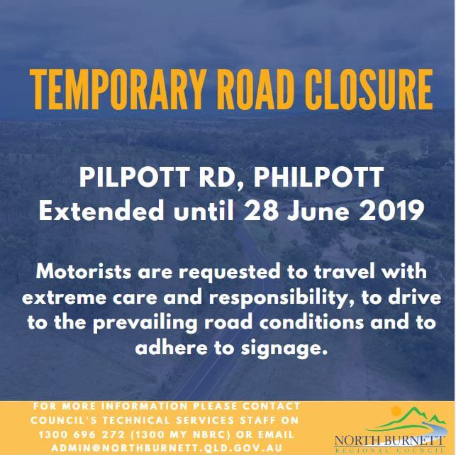 Temporary Road Closure Extended – Philpott Rd