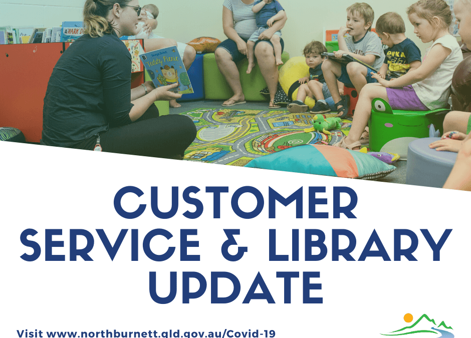 COVID-19 Update – Customer Service Centres & Libraries