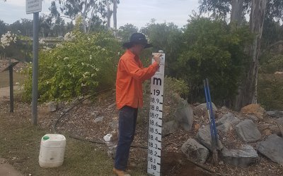 Flood Markers Installed to Build Community Preparedness