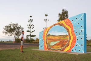Mural at Jaycee Park - the Black Stump Rest area