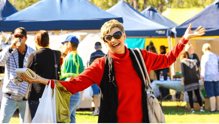 Festival Market Day at the Gayndah North Burnett