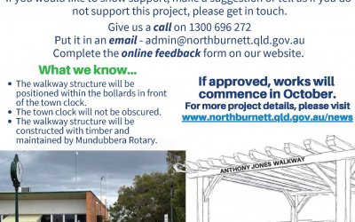 Have Your Say – Proposed Anthony Jones Walkway Structure, Lyons Street, Mundubbera