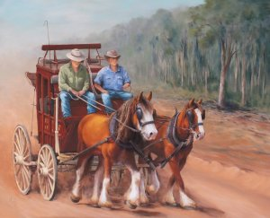 Cobb & Co by Marlene Millard exhibition Mt Country Core at the RMW