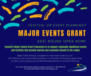 Major Events Grant - Open Now