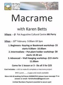 Macrame with Karen Betts