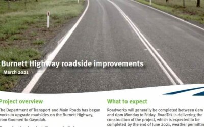 Burnett Highway Roadside Improvements – Department of Transport and Main Roads
